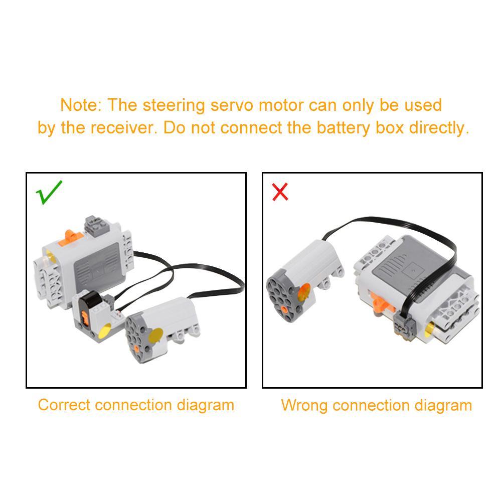 Steering Motor Plug-In Compatible Servo Plastic For Lego 88004 Blocks Parts