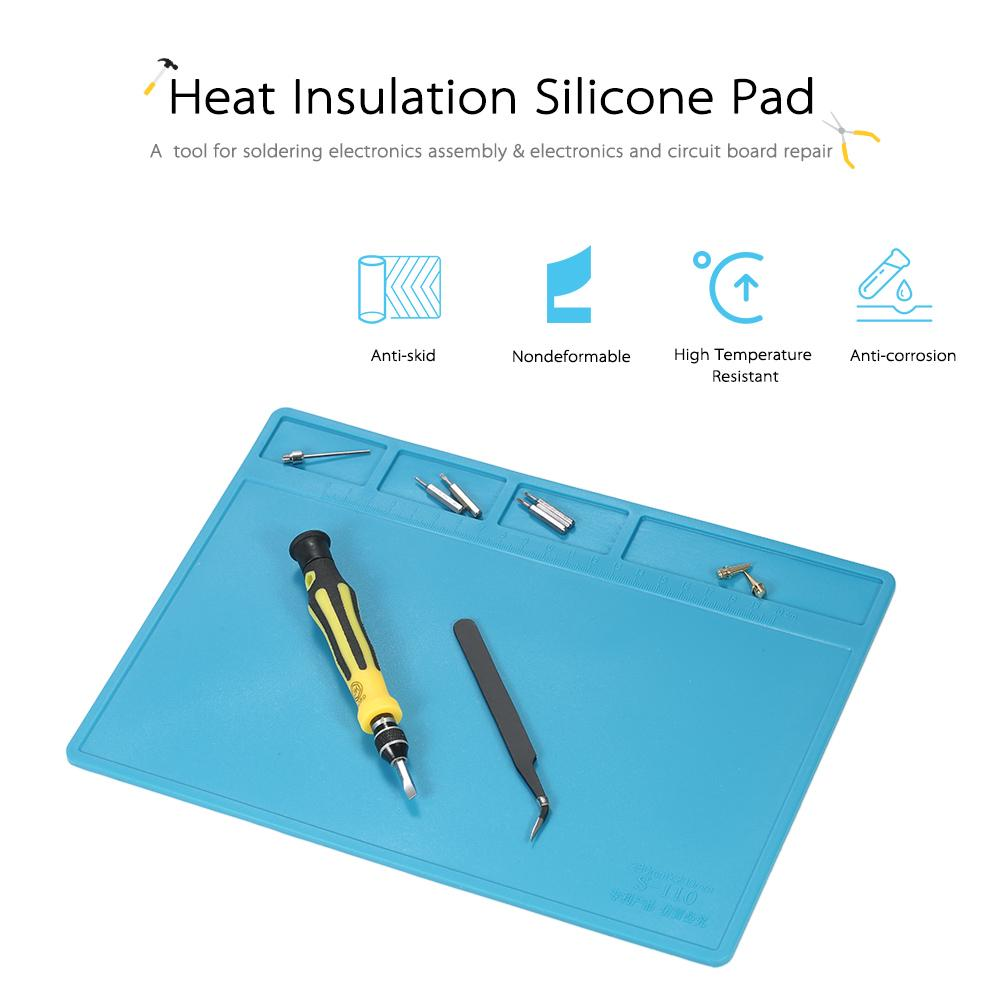 Circuit Board Repair Tools 280200mm Heat Insulation Silicone Pad For Bga Soldering 2 Of 12
