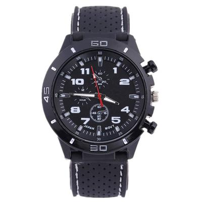 Fashion Men's Watch Silicone Strap Sport Quartz Watch