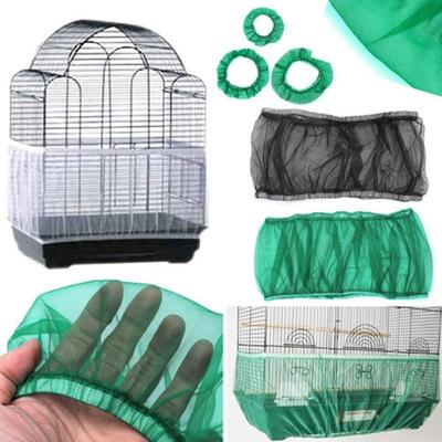 Seed Catcher Guard Mesh Bird Cage Case Cover Skirt Traps Clean Cage