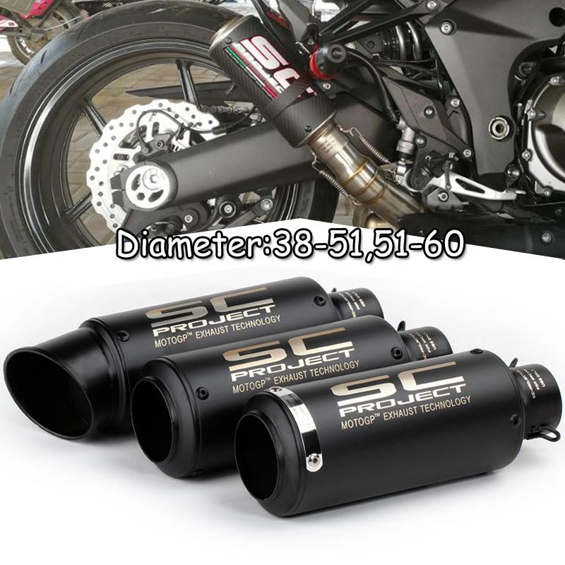 Motorcycle Exhaust Tip Muffler Silencer Pipe for Universal 60.5mm ATV Dirt Bike