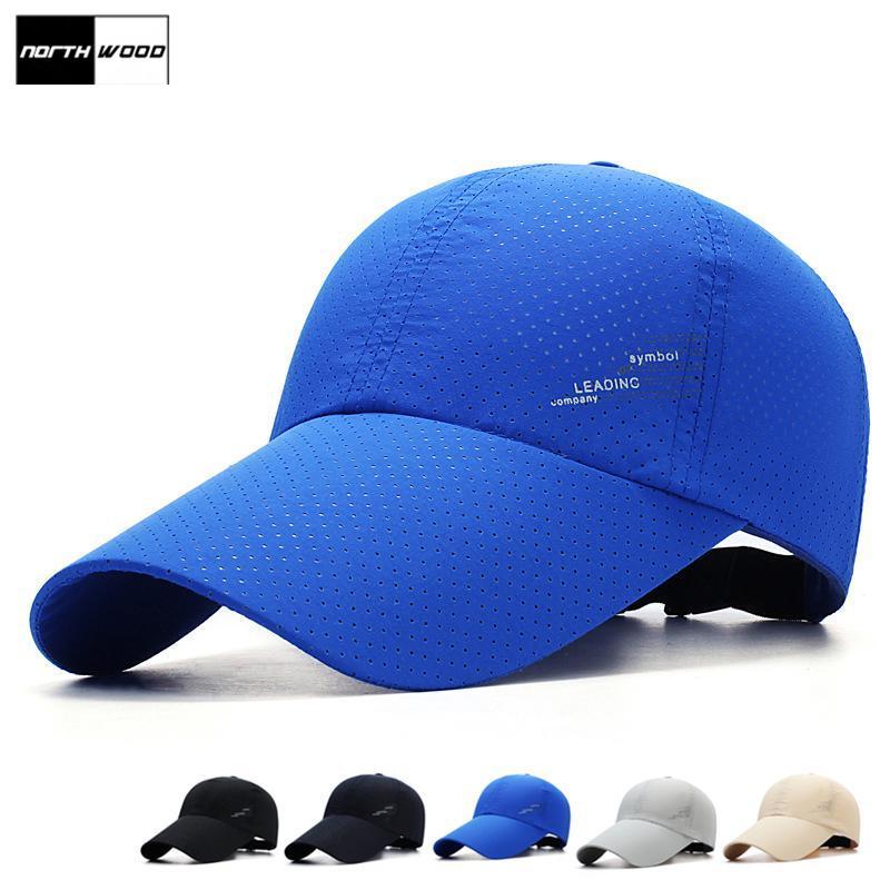 Summer Men Women Breathable Mesh Hat Adjustable Quick Dry Visor Baseball Cap