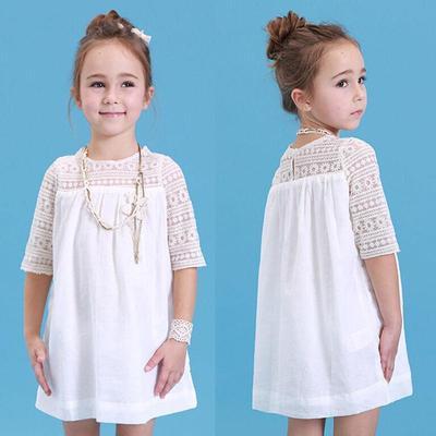 6385a16f67a Новый Baby девочек Принцесса Белый кружева цветок платье Платья вечерние платья  2-9Y