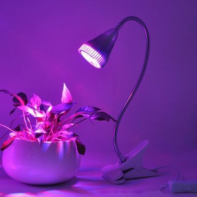 360 Degrees Flexible Holder Clip Greenhouse Plant LED Grow Light Lamps Bulbs