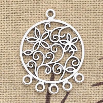 Comb Charm//Pendant Tibetan Antique Silver 28mm  10 Charms Accessory Jewellery
