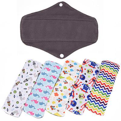 Wiederverwendbare Baumwolle Bambus Stoff Waschbar Menstruation Pad