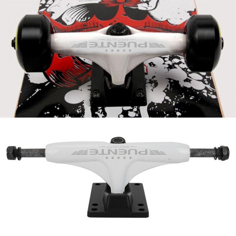 2Pcs 4-8 inch Aluminum Magnesium Alloy Bridge Skate Board Bracket Support Black