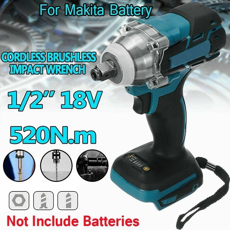 "520N.m 18V 1//2/"" Cordless Brushless Impact Wrench For Makita Battery DTW285Z USA"