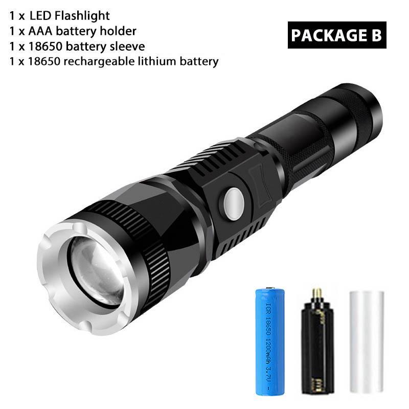 3500 Lumen 5 Modes XM-L T6 LED Torch Powerful 18650 Flashlight Lamp Light UK