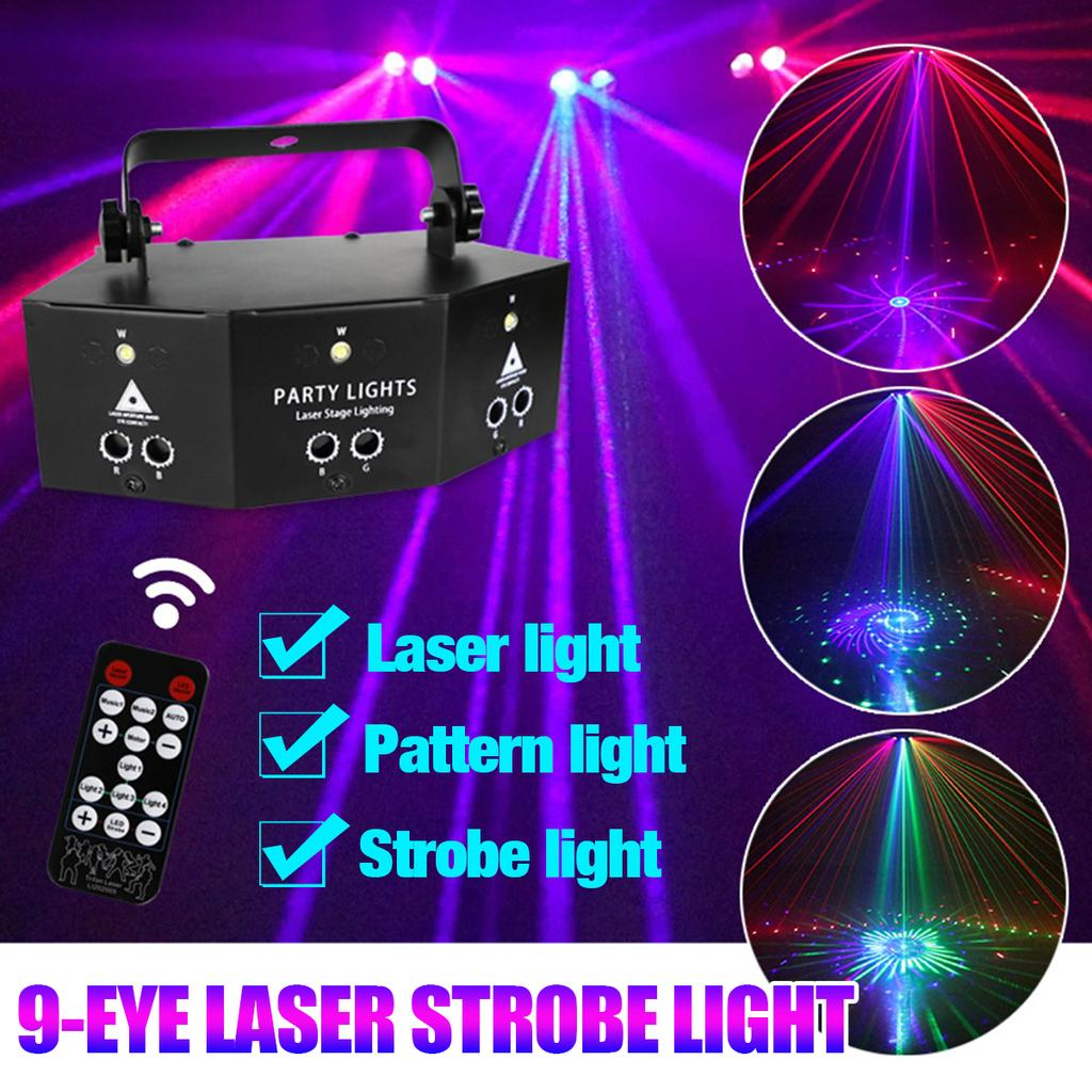 60 Pattern LED Stage Lighting RGB Laser Projector Disco Party Club Decor Light
