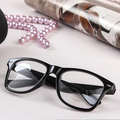 53759a1a5f4 Fashion Unisex Men Women Vintage Clear Lens Frame Wayfarer Nerd Geek  Glasses Eyewear