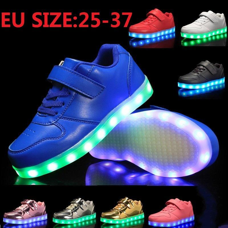 2dd831a7 Детские кроссовки новому светящимися освещенные красочный свет детей ...
