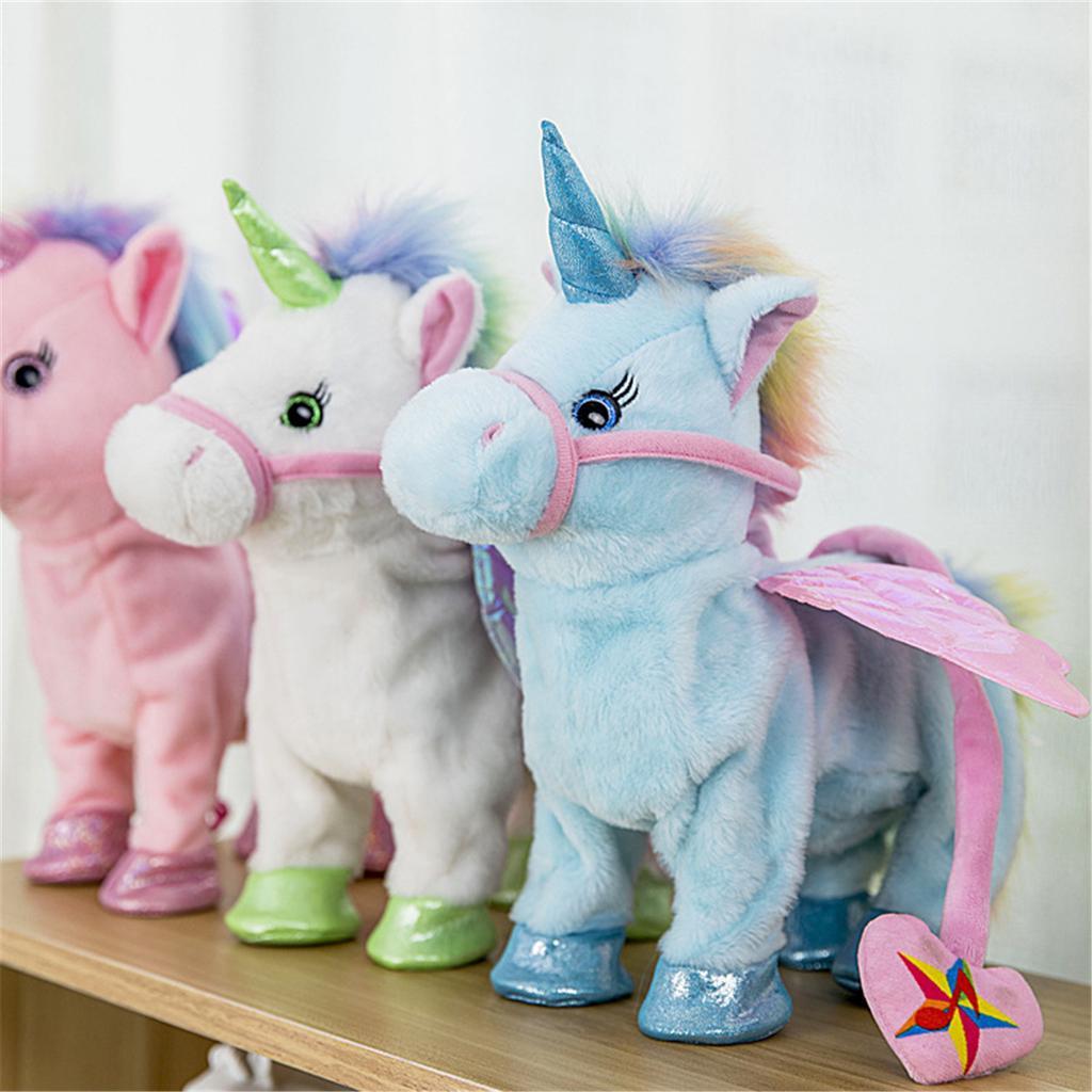Electronic Toy Pony Smart Pet Unicorn Singing Walking Talking Halloween For Kids