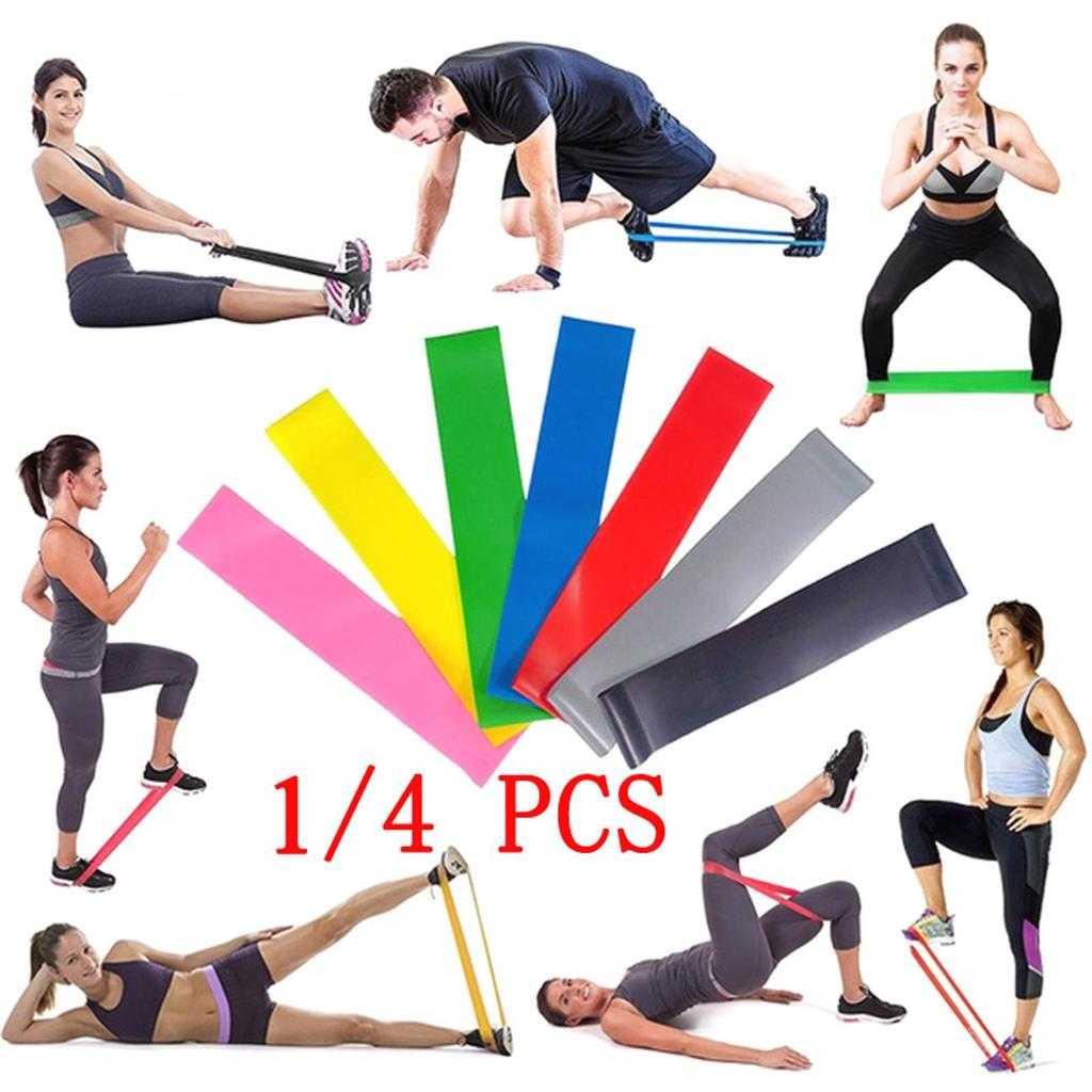 Resistance Bands Strong Yoga Emulsion Band Loop fitness Gym Exercise Pull up