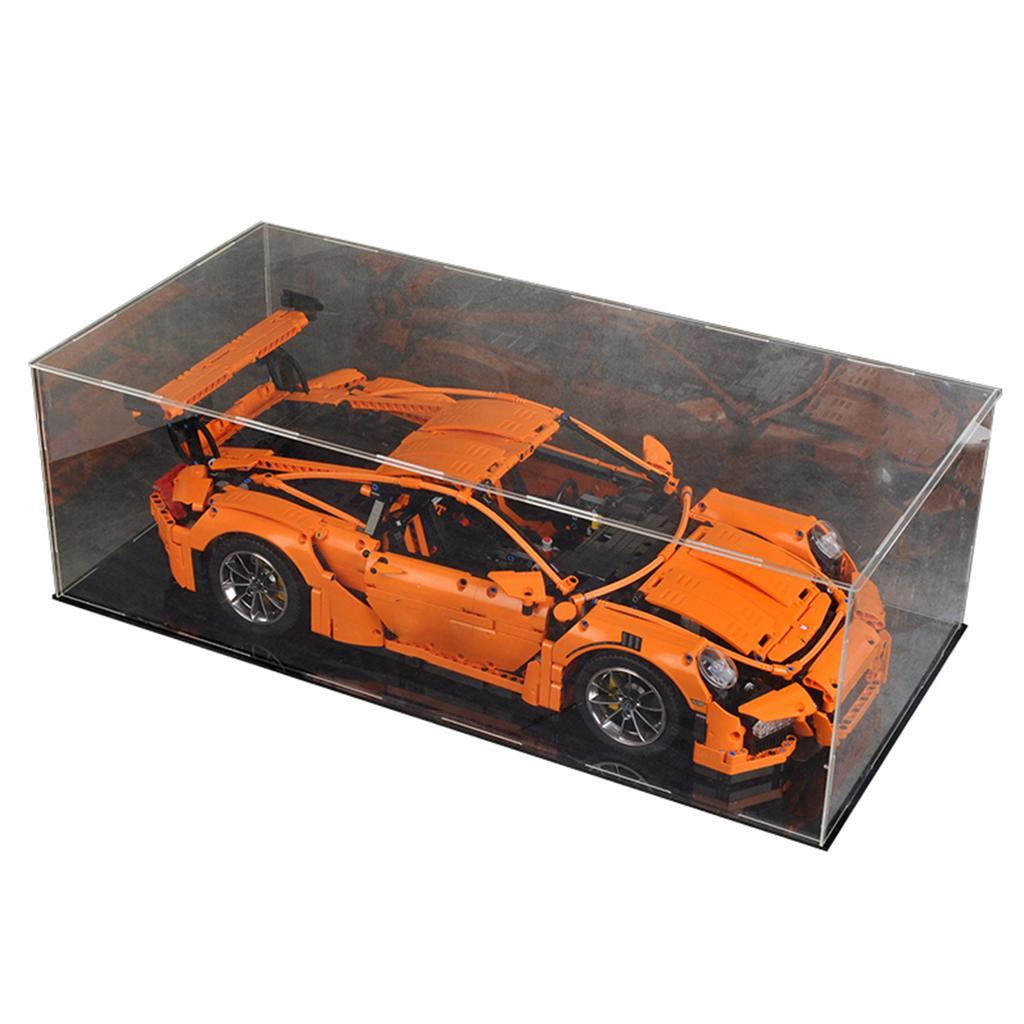 DIY Acrylic Transparent Display Case Box For 42056 42096 42083 Bricks Toy