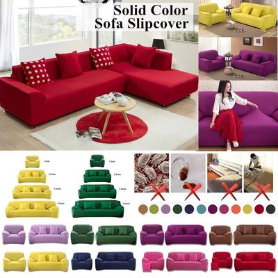 1 2 3 4 Seater Sofa Cover Pure Color