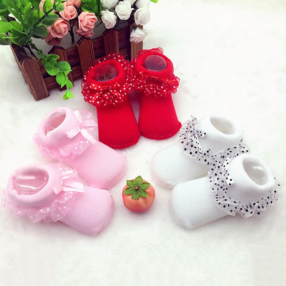 Soft Cotton Tutu Newborn Socks Lace Baby Socks Infant Short  Newborn Hosiery