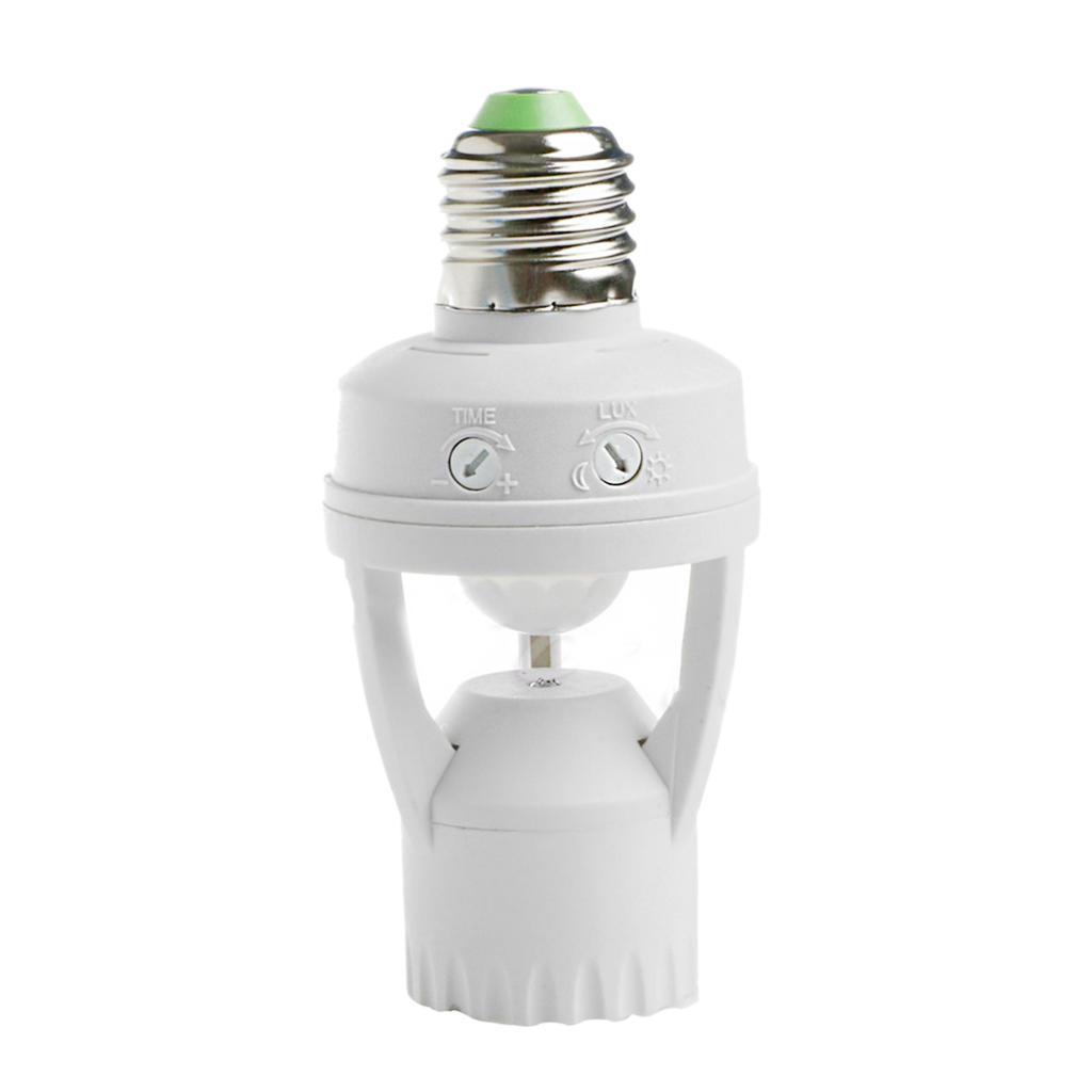 E27 Led Lampe Birne Lampenhalter Schalter Steckdose Infrarot Pir