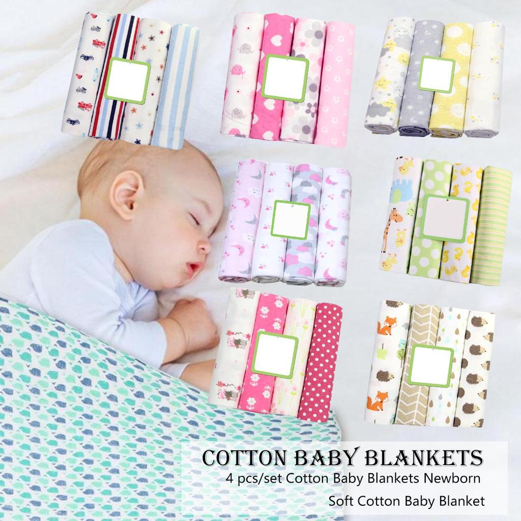 4 Pcs Set Cotton Baby Blankets Newborn Soft Cotton Baby Blanket Muslin Diapers Swaddle Blanket Wrap Buy At A Low Prices On Joom E Commerce Platform