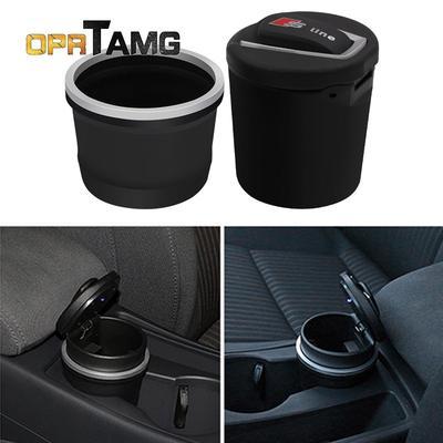 Sline портативні автомобіля барабан попільничка зберігання Кубок з  світлодіодні ліхтарі для всіх Audi Q3 Q5 SQ5 2549c5cf08154