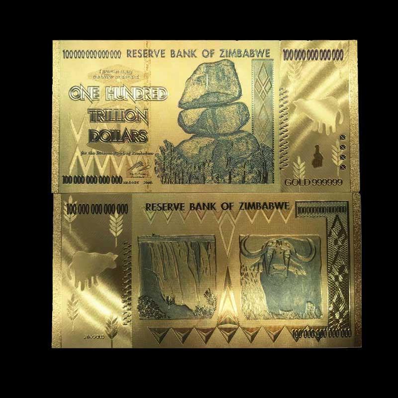 Hundred Trillion Dollars Banknotes Foil