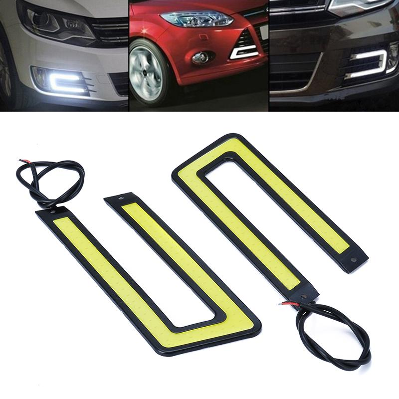 2xSuper Bright 7 type COB Car LED Lights 12V For DRL Fog Driving Lamp Waterproof
