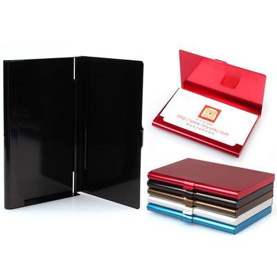Suda Creative Business Card Holder Metal Leather Box