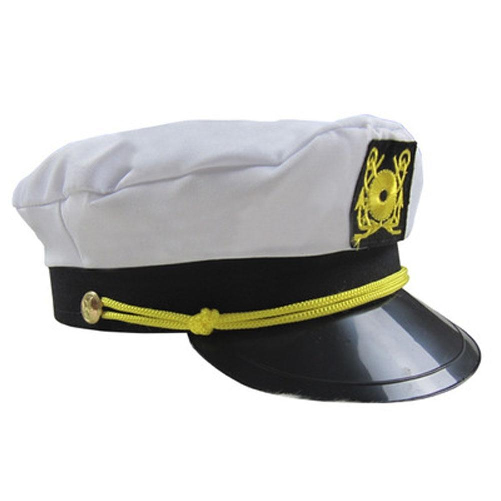 06699dbf7be7a The Latest Fashion Men   Women s White Yacht Captain Skipper Sailor Boat  Cap Hat Costume-buy at a low prices on Joom e-commerce platform