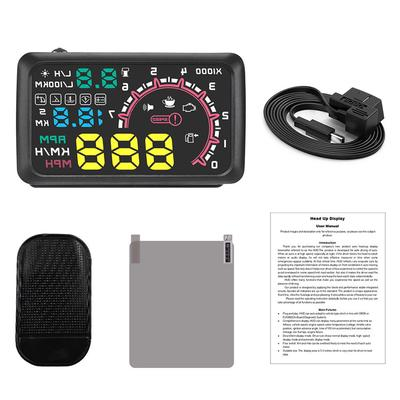 X5 Car OBDII HUD Head Up Display Projector Speedometer Overspeed Warning System