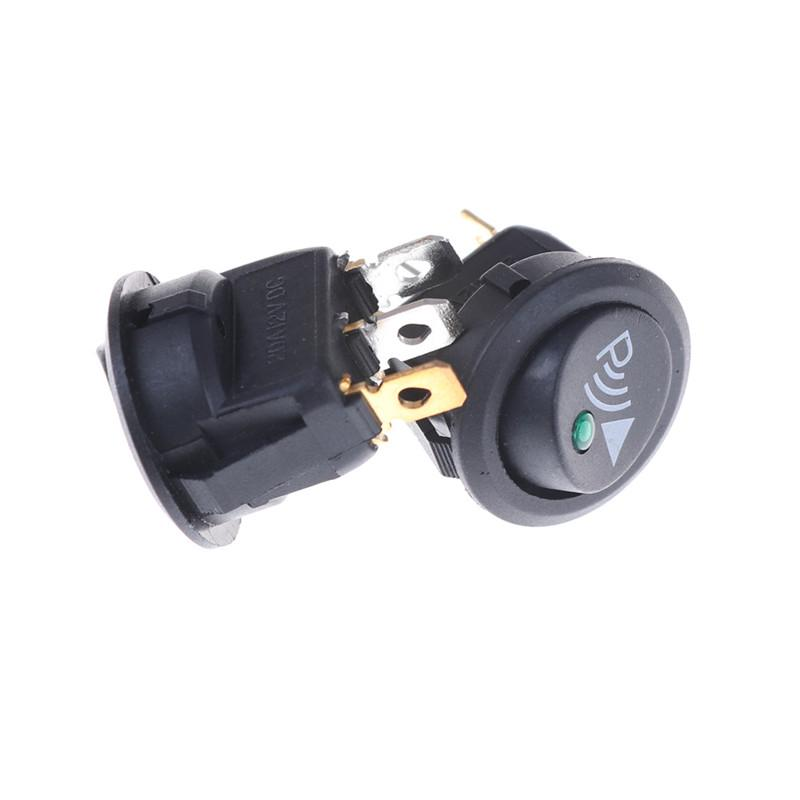 2pcs Parking Sensor Switch 12V 20A 3Pin Illuminated Rocker Switch Round yc