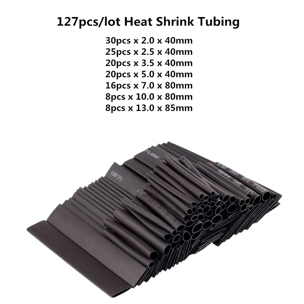 8,0//2,0 MM 5 metres-Black Box-shrink tubing with Glue