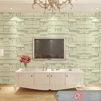 Realistic Bricks Rock Wall Paper Adhesived Background Roll Stickers Home Decor