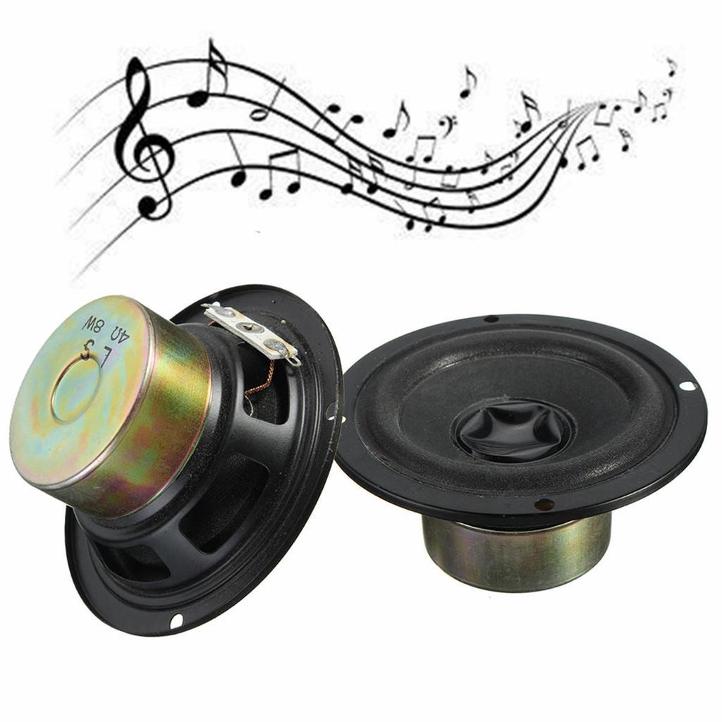 """2pcs 1.5/"""" inch 4Ohm 4Ω 2W Full Range Audio Speaker Stereo Woofer Loudspeaker PU"""