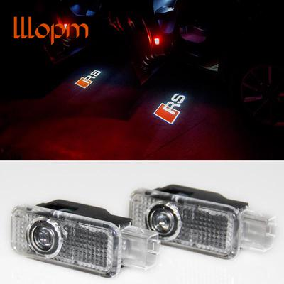 2pcs Car Styling LED Door Warning Light Welcome light For Audi RS