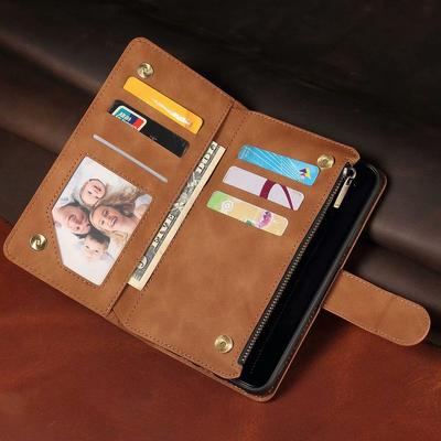 Business PU Leather Wallet Phone Flip Bag Case with Credit Card Holder for iPhone 6 7 8 11/Samsung Galaxy S9 S10 S20 A10 A20 A30/Xiaomi/Huawei