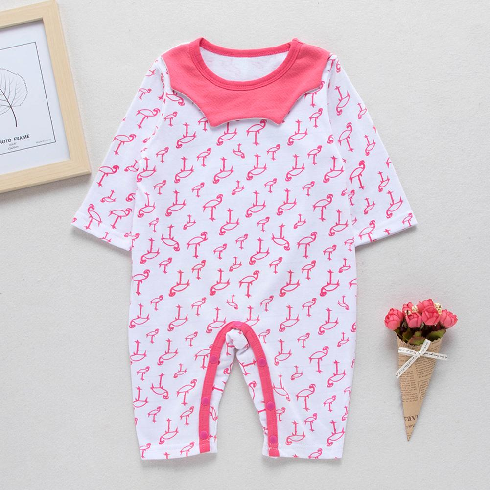 Infant Baby Girls Bodysuit Short-Sleeve Onesie Ice Cream Print Jumpsuit Summer Pajamas