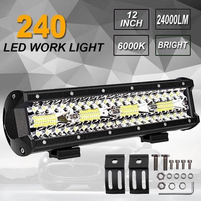Amber 25inch 162W Led Work Light Bar for Off road JEEP SUV CAR Driving Fog Lamp