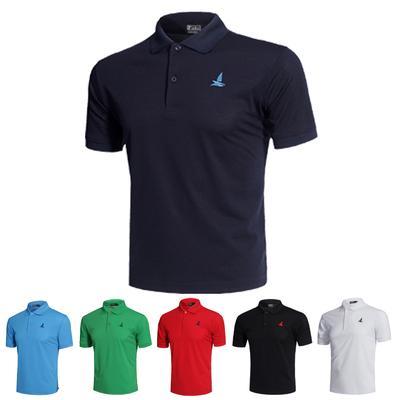 Solapa camiseta deporte Fitness camisas de Polo de manga corta Polos  camisetas Tops de Color sólido fca66efad3e4d