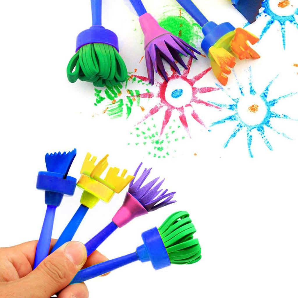Paint sponges for Kids,6pcs of Fun Paint Brushes for Toddlers