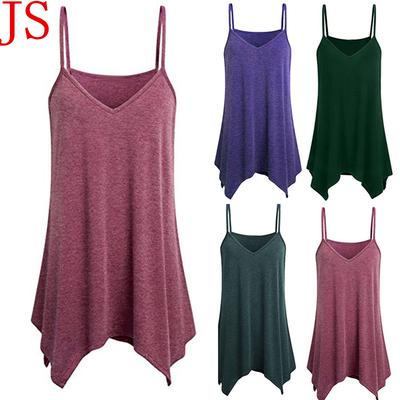 4d8d7b7ed8bd3 -81% · 4.7Price  10 Price  53. Womens Handkerchief Hem Flowy Top Casual  Summer Spaghetti Strap Camisoles Tank
