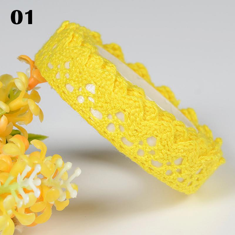 2m red edge white blue green yellow floral design ribbon embroidered trim 20mm