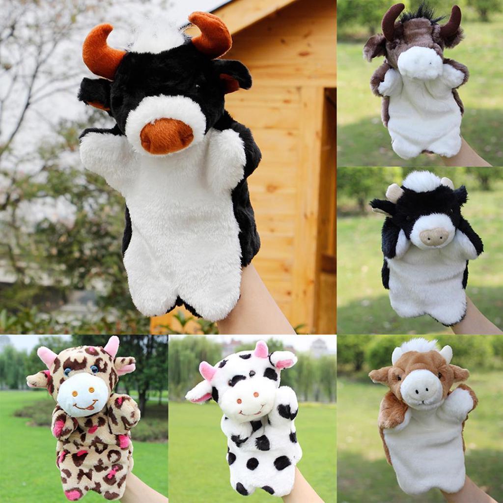 Мультфильм прекрасный мини-плюшевые корова Ox Bull животных руки кукольный дети повествования игрушка – купить по низким ценам в интернет-магазине Joom