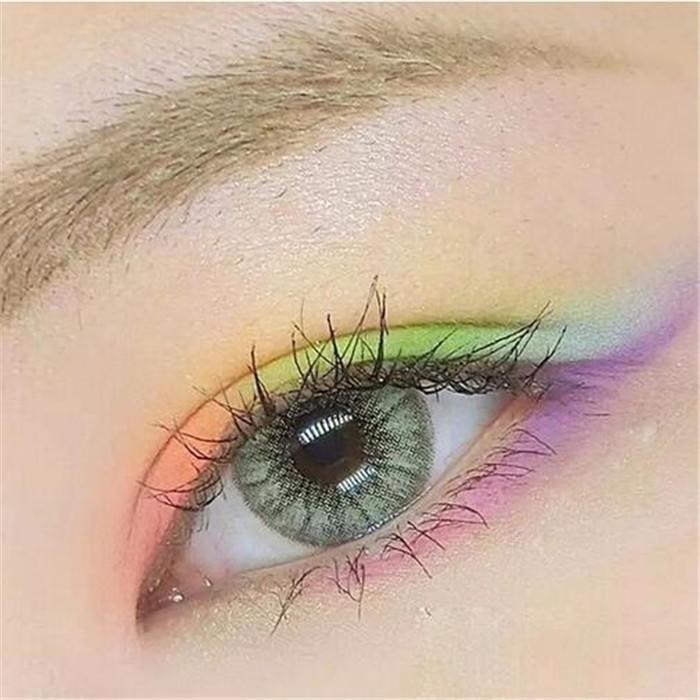 0ee8536827577 Lentes de contacto cosméticos Color de los ojos de color gris verde ...