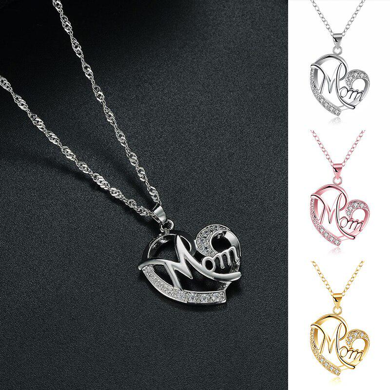 Wedding Gift for Mom Mom gift from Son Silver Heart Necklace Mother and Son Necklace Mom Necklace Mothers Day Jewelry Gift Mum Gifts