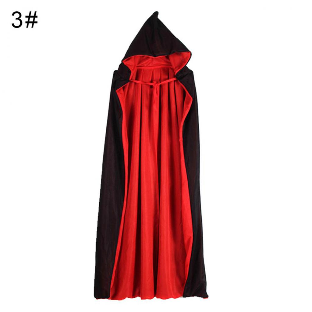Adult Kids Hoodie Cape Cloak Robe Halloween Vampire Witch Wizard Cosplay Costume