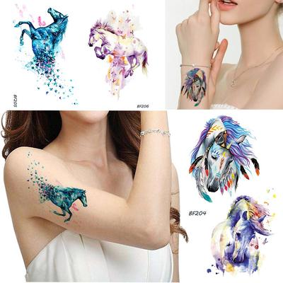 Waterproof Temporary Fake Tattoo Stickers Unicorn Horse Body Art Make Up Tools Buy At A Low Prices On Joom E Commerce Platform