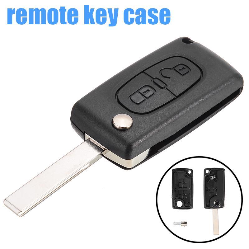 Pdtoweb 2 Кнопка Flip Удаленный ключ Fob Shell Дело подходит для PEUGEOT 307 308 407 408 207 фото