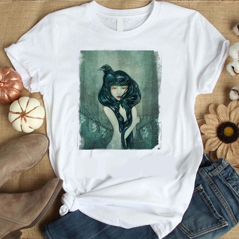 2020 Tshirts for Women Short Sleeve Fashion Funny Cartoon Sheep Tops Cute Plus Size Cotton Comfort Sale Summer Blouse