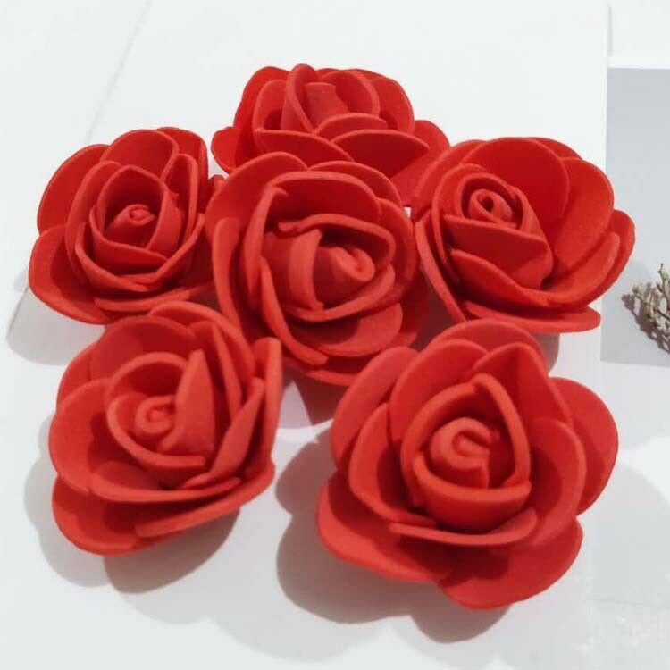 40pcs Blue Rose Roses Artificial Flowers Silk Flower Silk Flowers for Wedding Bridal Bouquet Floral Arrangement Home Decor 10pcs