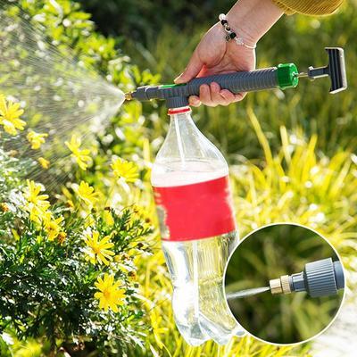 High Pressure Air Pump Manual Sprayer Adjustable Drink Bottle Spray Head Nozzle Garden Watering Tool for Home Garden